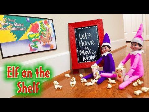 Elf on the Shelf Movie Night! Day 4