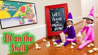 Elf on the Shelf Movie Night! Day 4