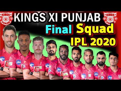 Vivo IPL 2020 Kings xi Punjab Full and Final Squad | KXIP Full ...