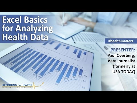 Webinar: Excel Basics for Analyzing Health Data