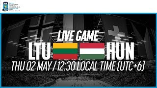 Lithuania vs. Hungary | Full Game | 2019 IIHF Ice Hockey World Championship Division I Group A