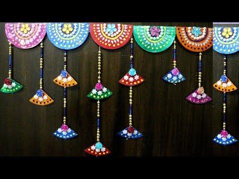 Best out of the waste wall hanging | Bandhanwar | Door hanging | Toran