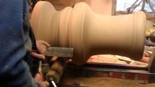 Wood Turning A Round Dining Table Base