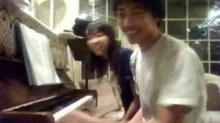 不能说的秘密 bu neng shuo de mi mi secret piano duet by eric and maggie