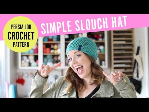 How to Crochet A Simple Slouchy Hat