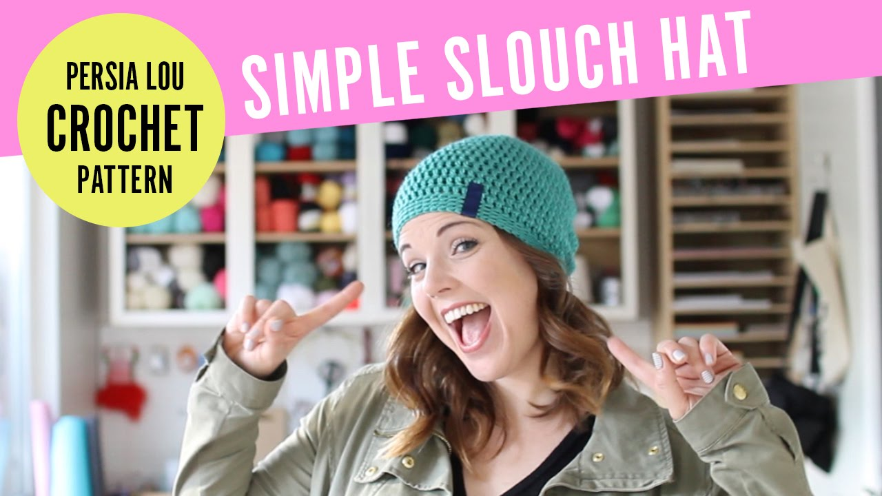 4a4da4421e8 How to Crochet A Simple Slouchy Hat - YouTube