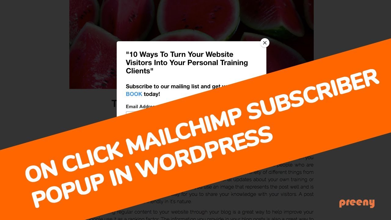 How To Get The Mailchimp Subscribe Popup Working OnClick In