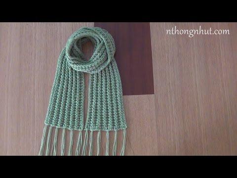 Hướng dẫn móc khăn len cho nam