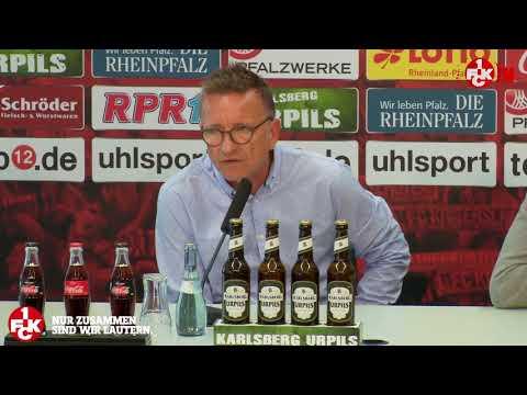 Pressekonferenz vor dem Heimspiel gegen Aue