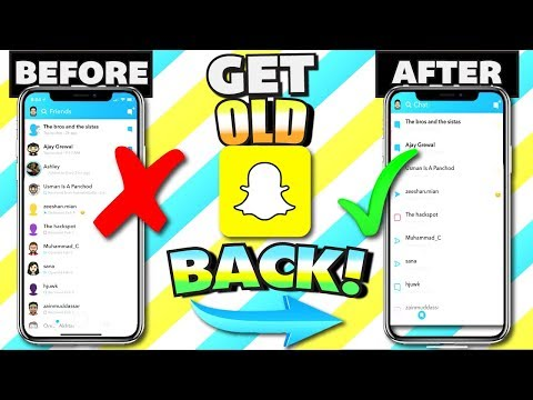 How To Get OLD SNAPCHAT BACK in 1 Minute! 2018 Fastest Way - Stories and Videos