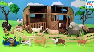 Farm Barn CollectA Playset - Fun Animal Toys For Kids