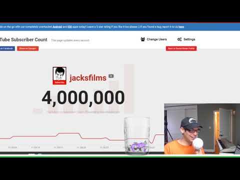 The exact moment I hit 4,000,000 subscribers