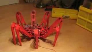 Eight Legs Robot Spider walks - Roboterspinne läuft thumbnail