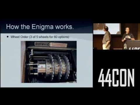 Cryptanalysis Of The Enigma Machine. Robert Weiss & Ben Gatti at 44CON 2012