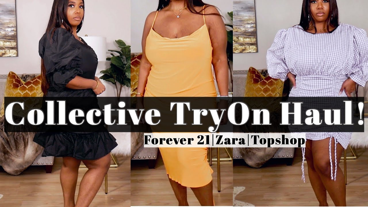 COLLECTIVE TRY ON CLOTHING HAUL! FOREVER 21, ZARA & TOPSHOP! | POCKETSANDBOWS