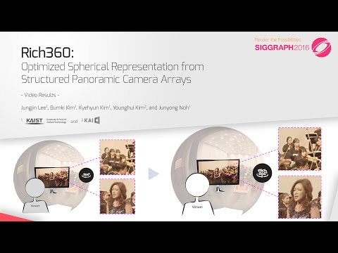 Rich360: Optimized Spherical Representation From Structured Panoramic Camera Arrays  (SIGGRAPH 2016)