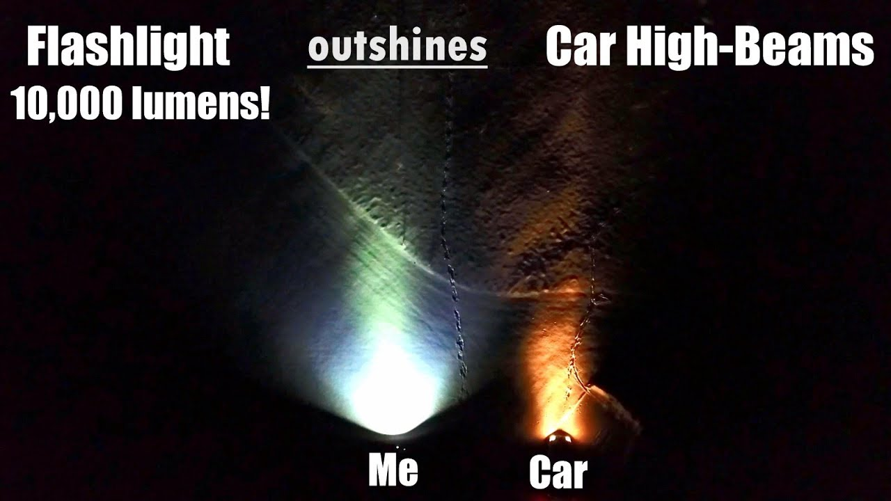 World S Brightest Compact Flashlight Outshines Car High Beam