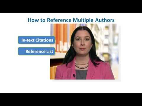 How to Reference Multiple Authors in APA Style