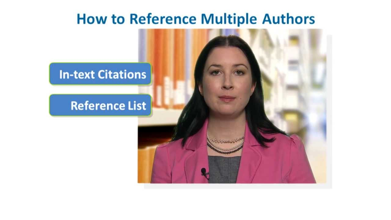 how to reference multiple authors in apa style youtube
