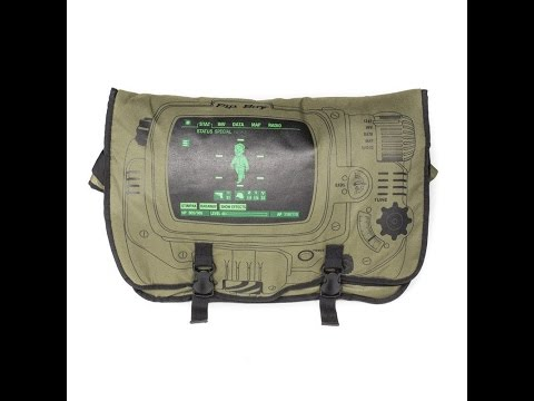 Review of Fallout 4 Pipboy Messenger Bag and Thrist Zapper Hoodie