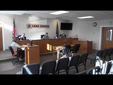 Lake County Commissioner's Regular Session Part 1 1-3-18