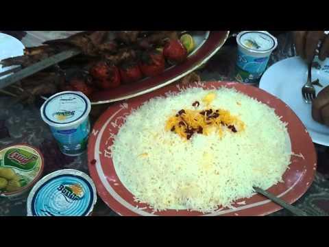 Persian food shishlik from shandiz mashad