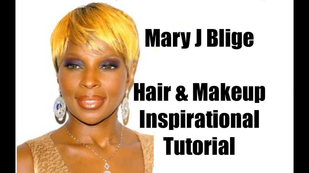 Mary J Blige Hair Makeup Inspirational Tutorial Youtube