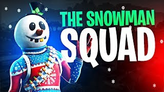 THE SNOWMAN SQUAD!! W/ HD, ACTIONJAXON & TREVOR MAY | Fortnite Battle Royale Highlights #209