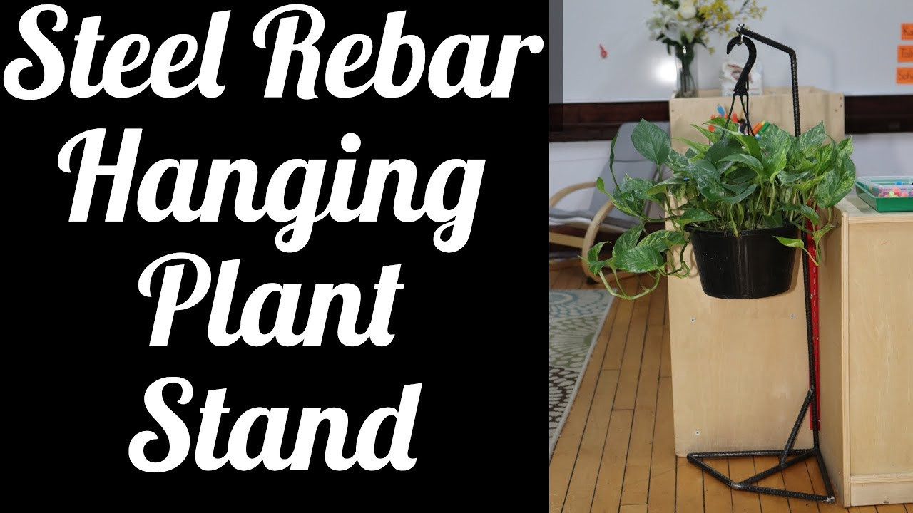 Steel rebar hanging plant stand youtube