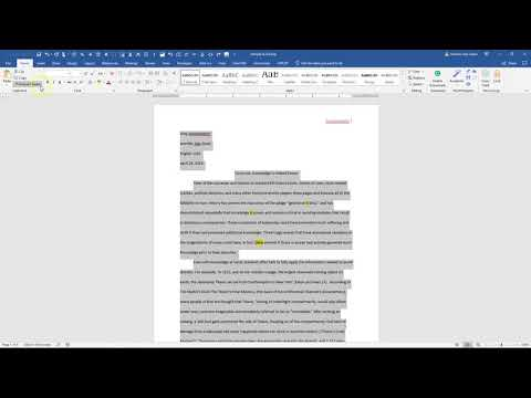 How to Change Font to Times New Roman, 12 point in Word 2016
