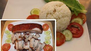 HTB 284 ll Cách Làm Heo Chiên Da Giòn Tan Ngon Xuất Sắc - Nấu Và Ăn Cơm Heo Quay Da Giòn
