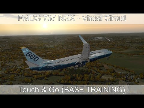 PMDG 737 NGX - REAL BOEING PILOT - Visual Circuit (Base Training)