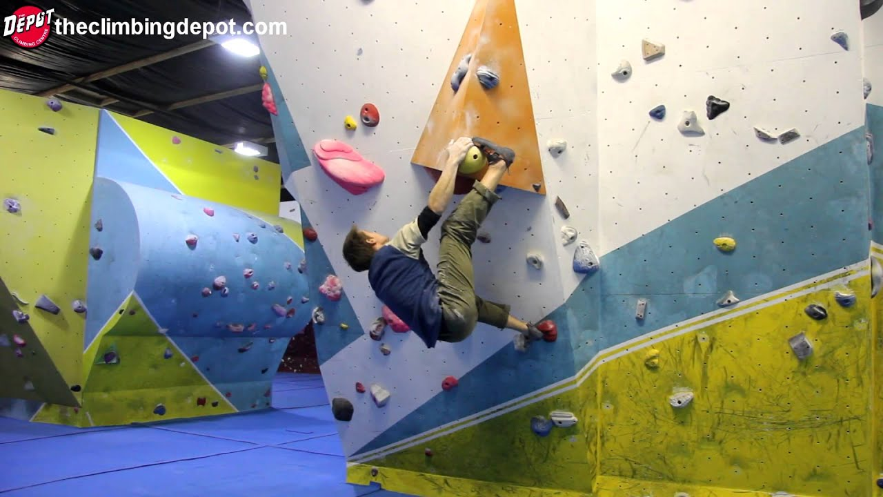 Bouldering World Cup Climber Dave Barrans V7-v10 Circuit Depot