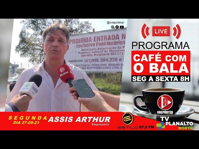 segunda-feira (27-09) no programa Café com o Bala entrevista exclusiva