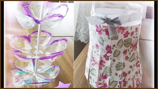 DIY crafts: recycling plastic bottles إبداعات بإستخدام قناني البلاستيك
