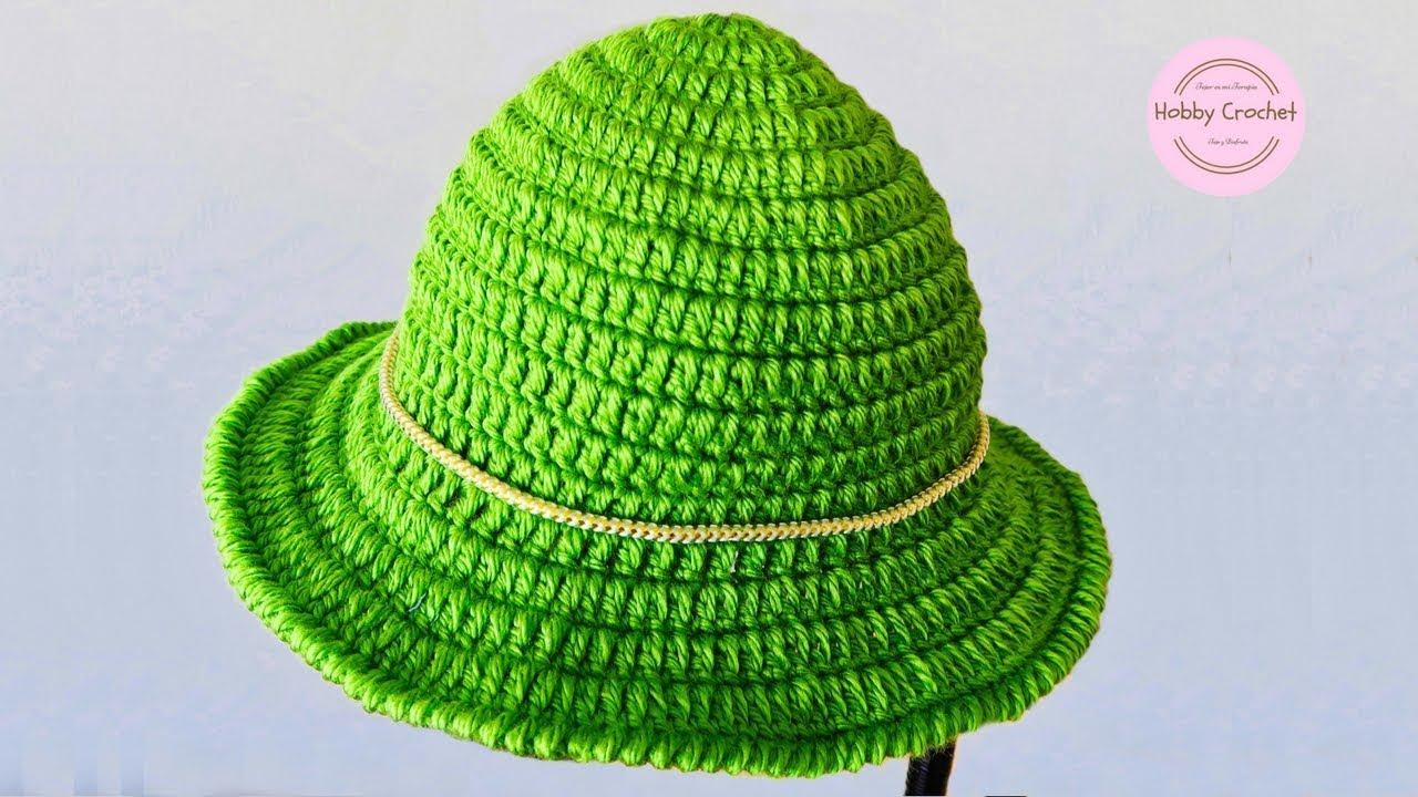 Gorro sombrero básico a crochet paso a paso - YouTube