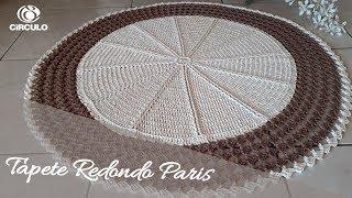Aprenda a Fazer Tapete Redondo de Crochê