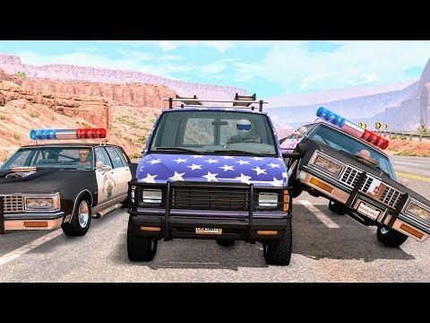 Crazy Police Chases #30 - BeamNG Drive Crashes