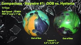 Roto Grip Haywire Bowling Ball Reaction Video Ball Review {vs} Hysteria