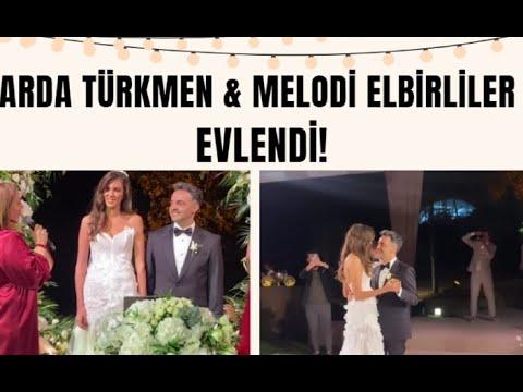 Ünlü şef Arda Türkmen ve ünlü fenomen Melodi Elbirliler dünya evine girdi!  Dans etmeye doyamadılar!