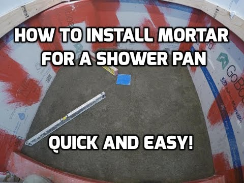 How to Install Mortar for a  Shower Pan Quick and Easy
