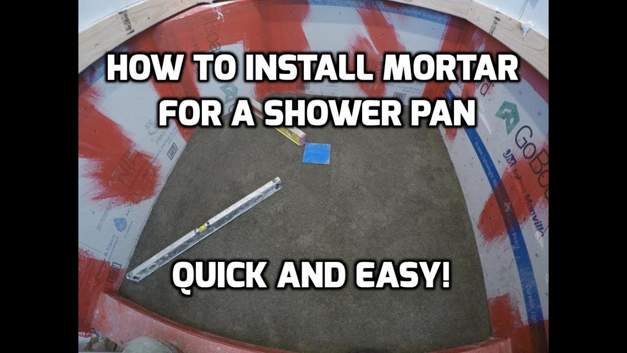 How To Install Mortar For A Shower Pan Quick And Easy Youtube