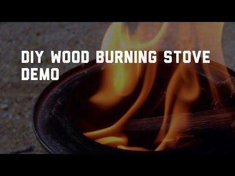 DIY Wood Burning Stove Demo