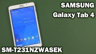 Распаковка Samsung Galaxy Tab 4 7.0 8GB 3G White (SM-T231NZWASEK)