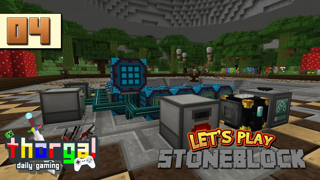 StoneBlock #4 - Base redesign, power, and sifting processing - Let's Play