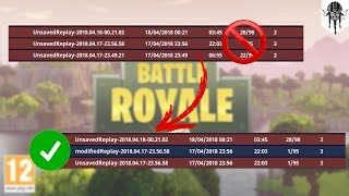 [FORTNITE PC] Comment récupérer les replay corrompus / How to recover corrupted replays