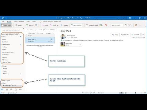 Share Inbox Subfolder