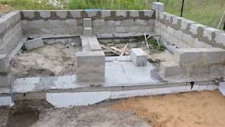 видео Баня из блоков: подготовка и строительство