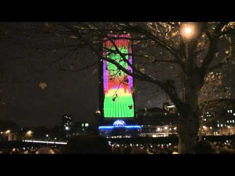 Deadmau5 Nokia Building Projection London