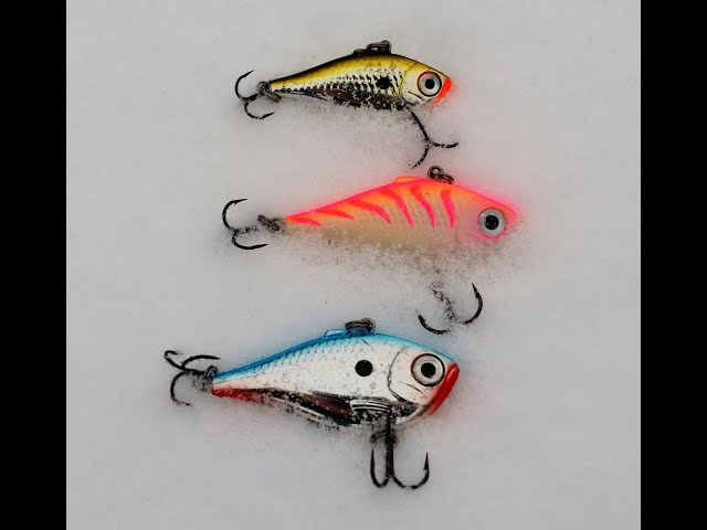 Advantages of Jigging a Rapala Rippin Rap or other Flashy/Noisy Lure for Walleyes while Ice Fishing